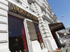 Coffee meeting mocca club vienna austria break Stock Photos
