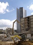Stock Photo of site abridgment boom contrast knock excavator