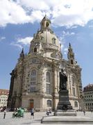 Stock Photo of church statue martin luther baroque buildup city