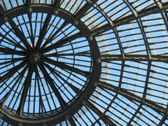 ceiling of galleria Umberto I, Naples - stock photo