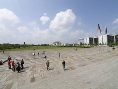 Stock Photo of berlin platz der republik parliament federal