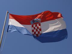 Design logo pattern croatian flag horizontal Stock Photos
