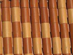 Stock Photo of abstract design roof tiles croatia horizontal