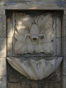 Design korcula frog fountain croatia island Stock Photos