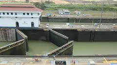 Open the Mirafloreslocks (Panama Canal) - stock footage