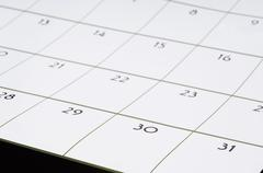 love calendar closeup month planning rendezvous - stock photo