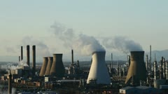 Cooling towers time lapse Stock Footage