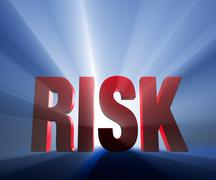 big, bold risk - stock illustration