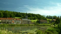 Small French Village Stock Footage