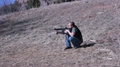 Ar15 shooting Stock Footage