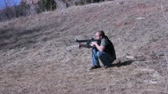 Stock Video Footage of Ar15 shooting