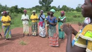 Stock Video of Burkina Faso: African Women Clap and Dance Stock Footage