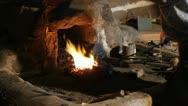 Blacksmith working Stock Footage