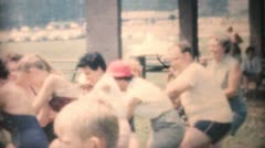 People Doing A Tug Of War At The Park-1964 Vintage 8mm film Stock Footage