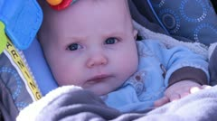 Waking baby Stock Footage