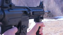 Close AR-15 Stock Footage