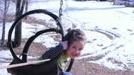 Little Girl on zip line Stock Footage