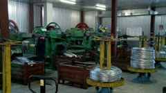 Machine tools in the production department of nails - stock footage