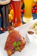 original german bbq pork  knuckle - stock photo