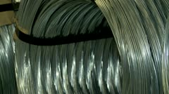 Storage thick wire coils. Stock Footage
