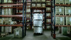 Cargo handling at the warehouse complex. Stock Footage