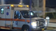 Stock Video Footage of Ambulance Driving By