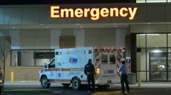 Ambulance At Hospital Stock Footage