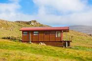Stock Photo of wooden house at west iceland
