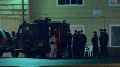 SWAT Waiting 2 Stock Footage