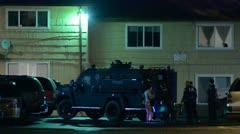 SWAT Waiting 1 Stock Footage