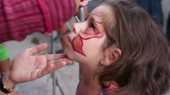 Face Paint - stock footage