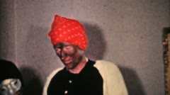 Kids In Crazy Halloween Costumes-1964 Vintage 8mm film Stock Footage