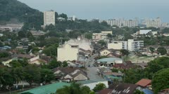 Penang old town Stock Footage