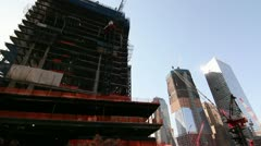 2 Two World Trade Center - Construction at Ground Zero Stock Footage
