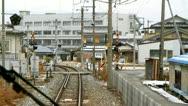 Train rides on rails. Stock Footage