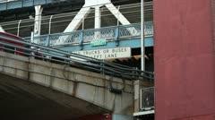 Traffic Under the Manhattan Bridge - stock footage