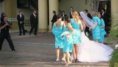 Wedding downtown photographer Stock Footage