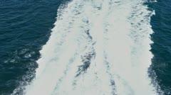 Sea - Waves behind speed boat Stock Footage