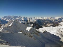 swiss slopes - stock photo