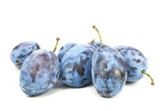 Stock Photo of fresh blue plums