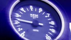 Stock Video Footage of Transport Motorcycle Tachometer Rev Counter VDO