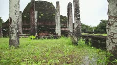 Polonnaruwa ancient city - stock footage