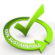 100 percent sustainable ecological environmental check - stock illustration