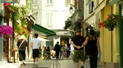 Walking the streets of Beaune France Stock Footage