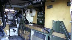 personnal carrier inside - stock footage