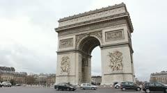 Triumph Arch, Paris. Stock Footage