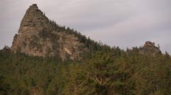 Rocks in Burabay (Borovoe), Kazakhstan. Stock Footage