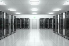 Server room in datacenter - stock illustration