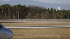 Airplane aeroflote close up - slow motion Stock Footage