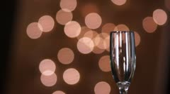 Holiday Event Red Wine Pouring into Glass Stock Footage
